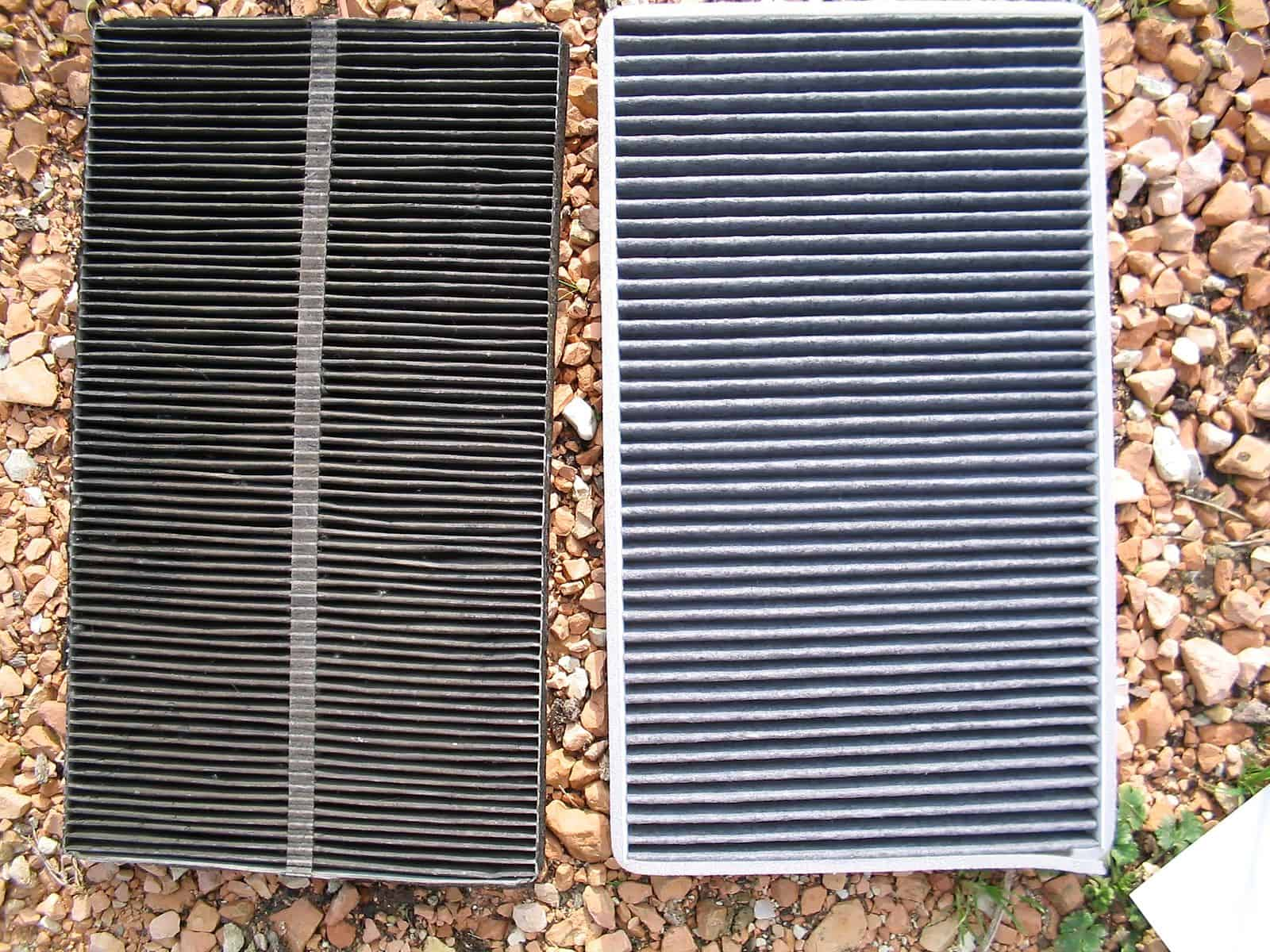 dirty vs clean cabin filter