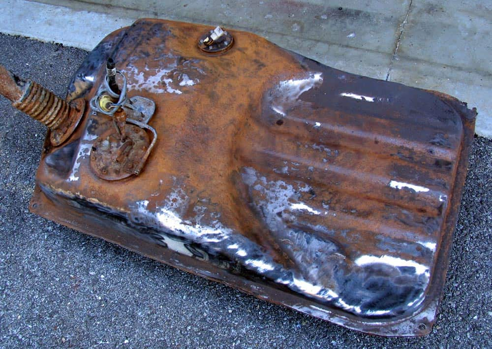 rusted gas tank