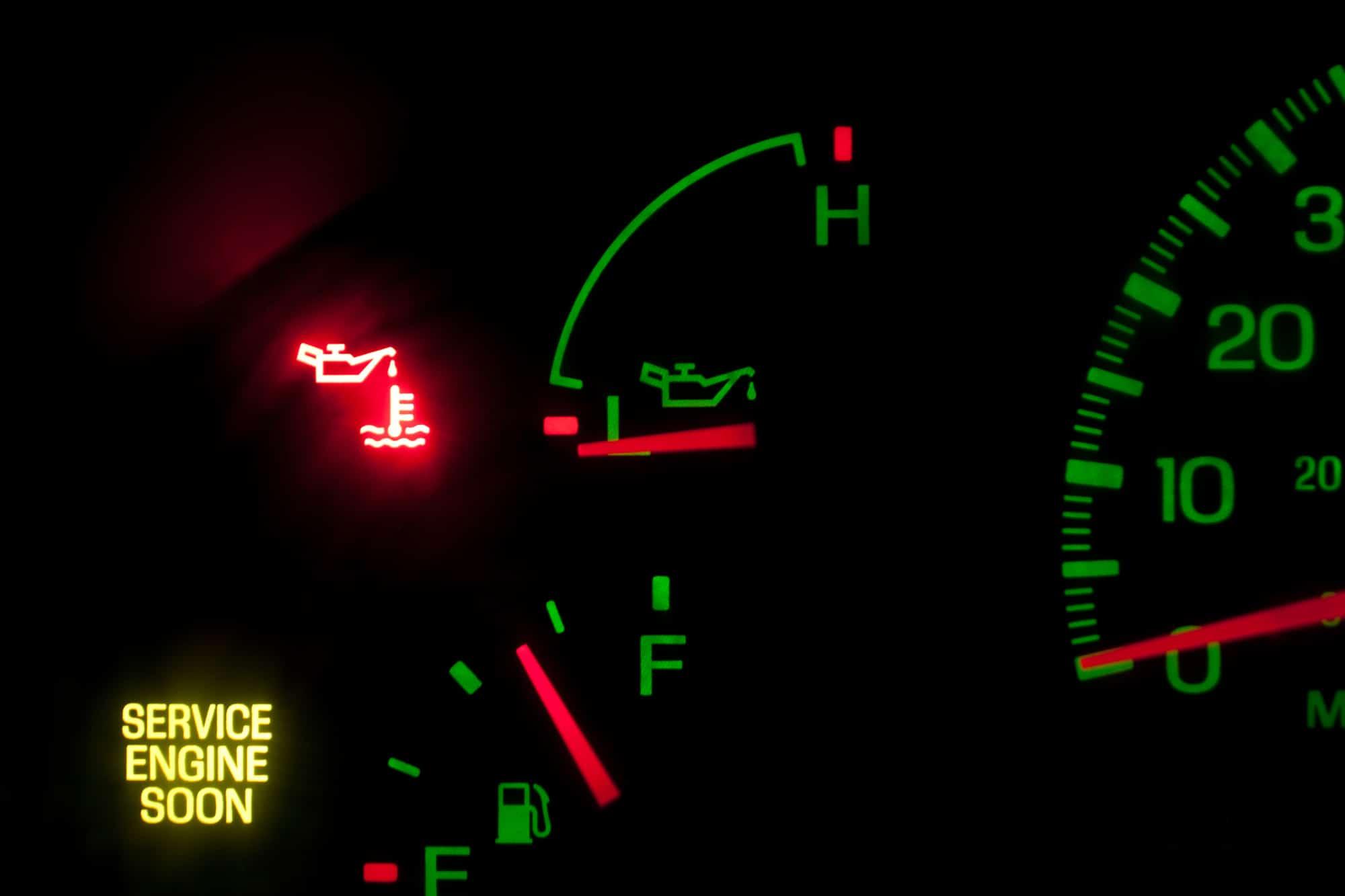 Service Engine oil pressure
